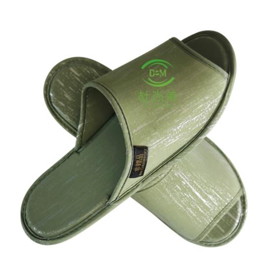 环保拖鞋——土豪金版-绿色开口